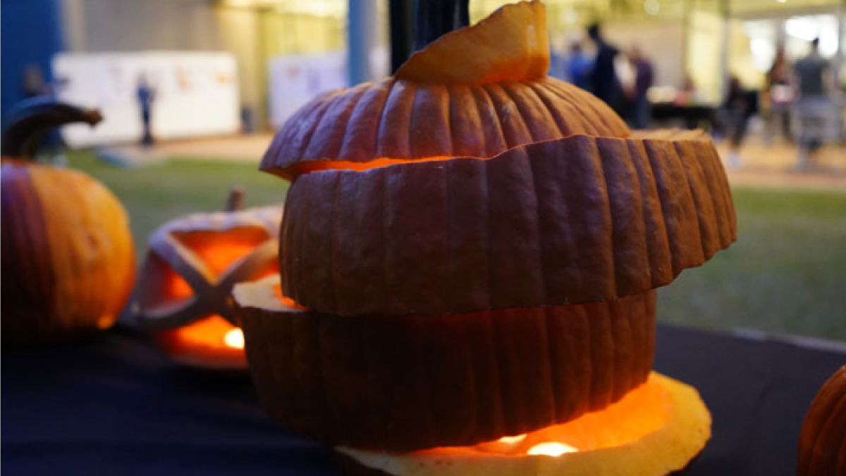 "Adeena Kreisler's pumpkin design won the ""Most Popular"" award during the fourth Annual Pumpkin Ramble."