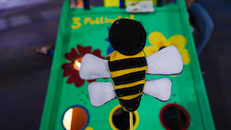 Bee a Pollinator! By: Duri Long, Himani Deshpande. Focuses on learning about pollination in a fun, embodied way.